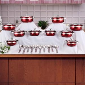 Mahavir Mahavir 10 +10 Handi Set Induction Bottom Cookware Set