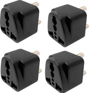 Brand one 3 pin travel universal multi plug adaptor (pack of 4) 6 A Three Pin Socket