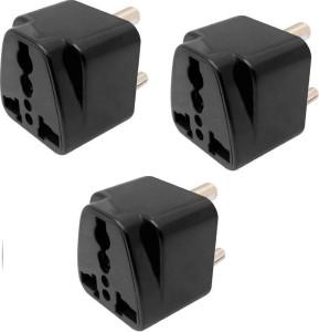 Brand one 3 pin mini travel multi plug adaptor (pack of 3) 6 A Three Pin Socket