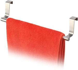 HOKIPO Stainless Steel Kitchen Towel Holder Cabinet Door 0 - Pronged Hook Rail