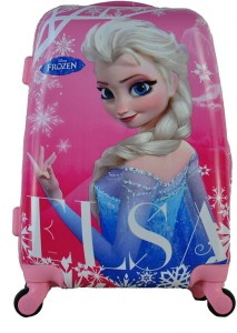 Gamme Disney Pink Frozen Elsa Children/Kids Travel Trolley Suitcase Bag Cabin Luggage - 20 inch