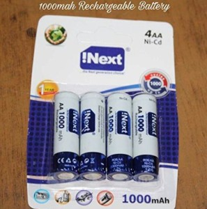 Inext IN 4AA RECHARGEABLE BATTERY  Battery Pack of 4