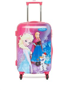 Gamme Disney Frozen Polycarbonate Multicolor Hardsided Children Cabin Luggage - 20 inch