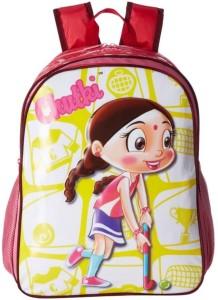 chota bheem chhota bheem chutki dark pink school bag 16 waterproof
