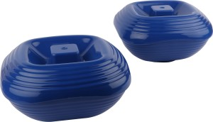 Homray Opulence Microwave Safe & Unbreakable Dark Blue Square 1200 ml Serving Bowls with Lid (Set of 2) Polypropylene Bowl Set