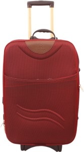 GOYMA Stylish Hard Shell Expandable 20 Inches Maroon Color Trolley Bag Cabin Luggage - 20 inch