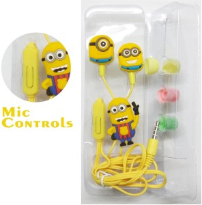 Kresto Minions Earphones Headset with Mic