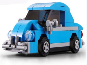 Emob Decool 2223 74Pcs Racing Pacemaker Mini wagon Beetle Car Block Construction Toy With Pullback Action Illustration