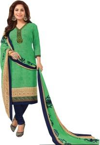 Chatri Fashions Crepe Floral Print, Harringbone, Paisley, Printed Salwar Suit Material