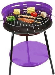 Sukot 14 inch Portable Charcoal Barbecue Grill with Tripods Storage Tray & 4 Adjustable Cooking Levels + 4 Skewers BBQ Sticks Barbecue Sticks Iron Roast Fork, Salad Fork