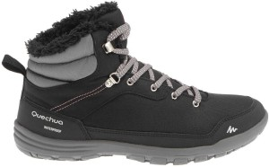 f1de6e7cc Quechua by Decathlon SH100 Hiking Trekking Shoes Black Best Price in ...