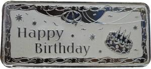 Kataria Jewellers Happy Birthday S 999 50 g Silver Bar