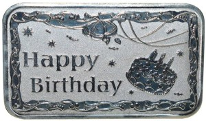 Kataria Jewellers Happy Birthday S 999 20 g Silver Bar