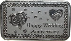 Kataria Jewellers Happy Wedding Anniversary S 999 10 g Silver Coin