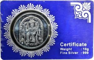 Kataria Jewellers Venkateswara Tirupati Balaji S 999 10 g Silver Coin