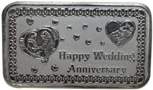 Kataria Jewellers Happy Wedding Anniversary S 999 20 g Silver Coin