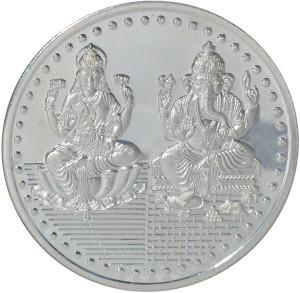 Kataria Jewellers Lakshmi Ganesha S 999 50 g Silver Coin