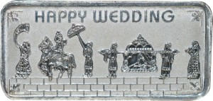Kataria Jewellers Happy Wedding S 999 20 g Silver Coin