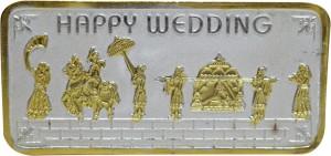 Kataria Jewellers Happy Wedding S 999 20 g Silver Bar