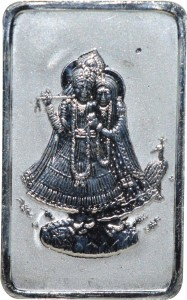 Kataria Jewellers Radha Krishna S 999 10 g Silver Bar
