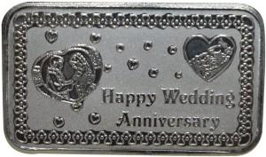 Kataria Jewellers Happy Wedding Anniversary S 999 50 g Silver Coin