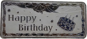 Kataria Jewellers Happy Birthday S 999 100 g Silver Bar