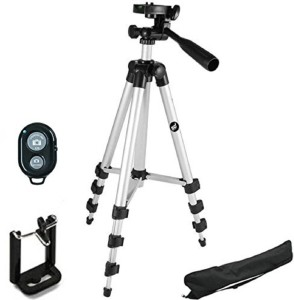 Smiledrive 105 CM LONG LIGHT WEIGHT MOBILE TRIPOD WITH WIRELESS CLICKER Tripod