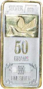 Kataria Jewellers Fine Silver S 999 50 g Silver Bar