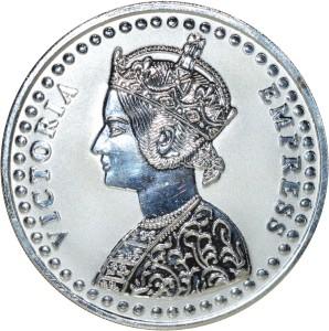 Kataria Jewellers Victoria Empress S 999 100 g Silver Coin