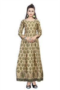 The Four Hundred Cotton Polyester Blend Printed Kurti Fabric