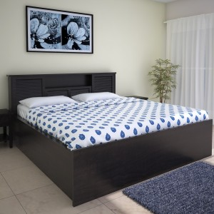 HomeTown Bolton Hydraulic Engineered Wood Queen Bed With Storage