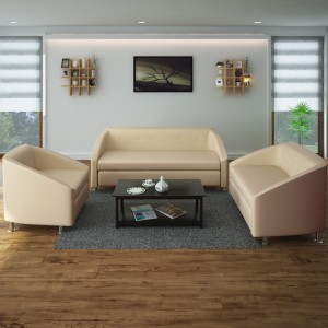 Hometown Belfast Leatherette 3 2 1 Ivory Sofa Set Best Price In