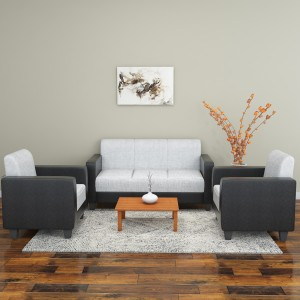 Hometown Fabric 3 1 1 Grey Black Sofa Set Best Price In India