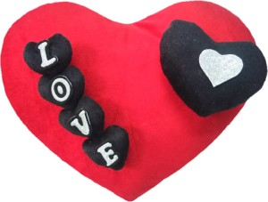 Aparshi (Combo pack of 4) Adorable heart cushion stuffed soft toy 4DQ22  - 32 cm