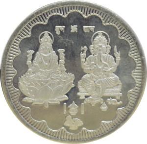 Kataria Jewellers Lakshmi Ganesha S 999 10 g Silver Coin