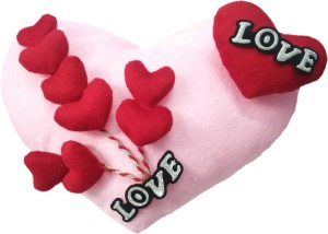 Aparshi (Combo pack of 4) Cutddly heart cushion stuffed soft toy 4DG26  - 82 cm