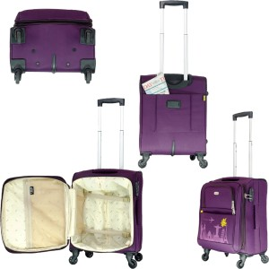 bdad4ef67 Timus SALSA 55 & 65 CM Wine 4 Wheel Trolley Suitcase For Travel Set of 2  Expandable Check-in Luggage - 25 InchesPurple