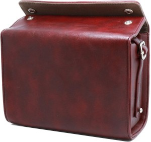 Caiul PU Leather Instax Mini 9, Mini 8 50s 90 7s 25/ Polaroid PIC-300P/ Polaroid Z2300 Travel Carrying Case ( Red Brown)  Camera Bag