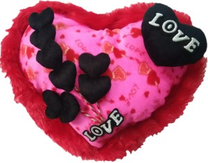 Aparshi (Combo pack of 4) Adorable heart cushion stuffed soft toy 4DE22  - 32 cm