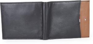 Tommy Hilfiger Men Tan, Black Genuine Leather Wallet