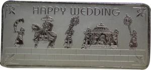 Kataria Jewellers Happy Wedding S 999 100 g Silver Bar