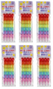 Parteet New Stack Pencil Set Pack Of 6Pcs For Birthday Party Return Gifts