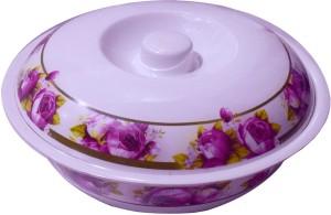 Blossom Trendz Rose Round Melamine Serving Bowl with Lid - 9.5