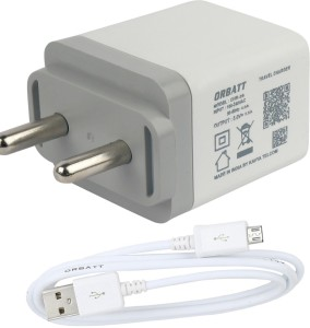 Orbatt 2.8A Fast Charger With Charge & Sync Usb Cable Mobile Charger