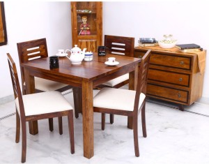 Home Edge Felice Solid Wood 4 Seater Dining Set