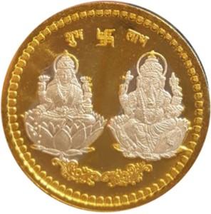 Kataria Jewellers Lakshmi Ganesha S 999 5 g Silver Coin