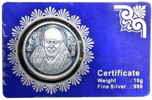 Kataria Jewellers Sai Baba S 999 10 g Silver Coin