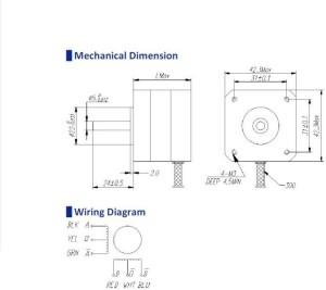 RoBoDo Stepper Motor NEMA 17 1 6 kg cm 4 wire bipolar Black Silver on nema 17 wiring-diagram cnc, nema 17 stepper motor controller, nema 17 stepper motor cable, nema 17 bipolar stepper motor, nema 17 stepper motor driver, nema 17 stepper 5 8oz wiring-diagram,