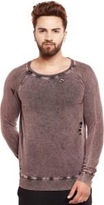 Fugazee Full Sleeve Self Design Men's Sweatshirt