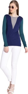 United Colors of Benetton Casual Full Sleeve Solid Women's Multicolor Top